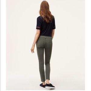 LOFT Modern Skinny Green Jeans Pants